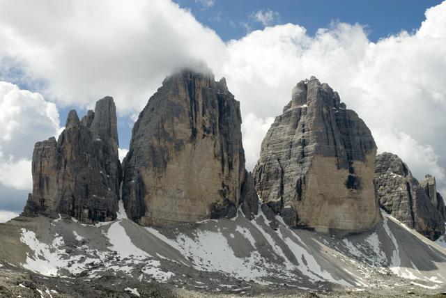 Las Tres Cimas de Lavaredo, Las Dolomitas, Los Alpes Orientales de Italia