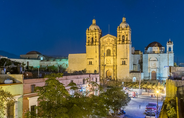 Historic centre of Oaxaca city with its landmark Santo Domingo church, Mexico (part of Unesco world heritage site)
