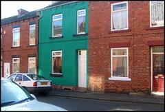 strange coloured house