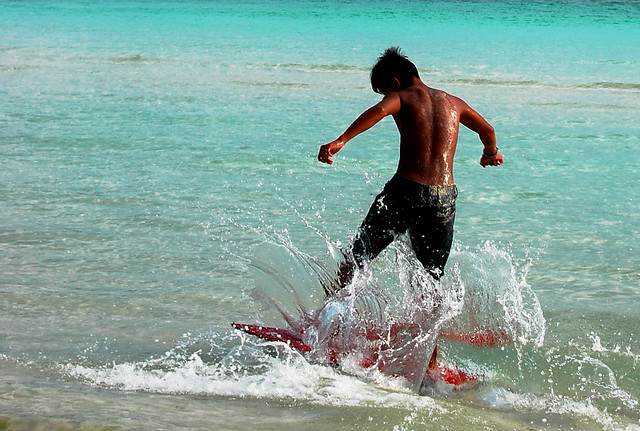 SKIMMING ON WATER (Boracay Island, Philippines)