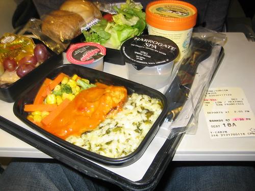 United Airlines - Economy Plus Dinner