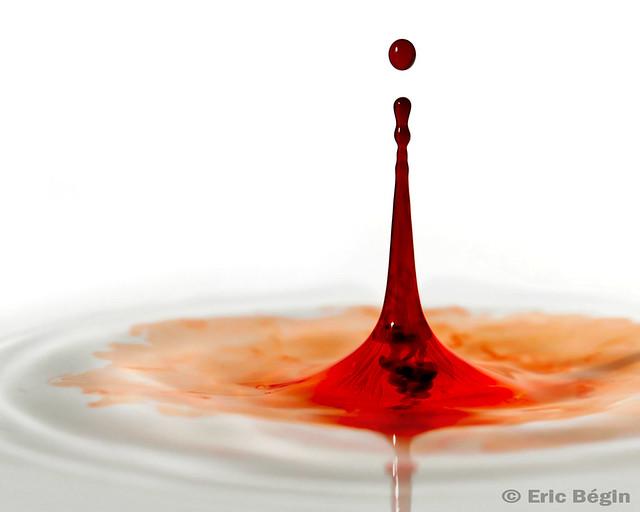 report blood drop