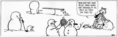 Calvin & Hobbes - Snowmen 004