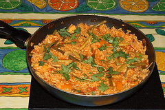vegetable, paella, food, dish, cuisine, jambalaya,