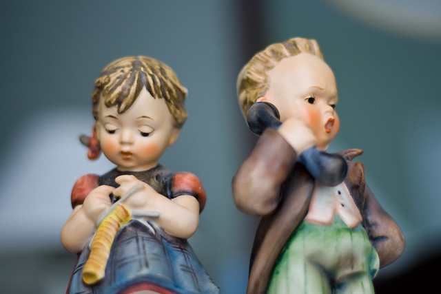Boy and Girl Hummel Figurines