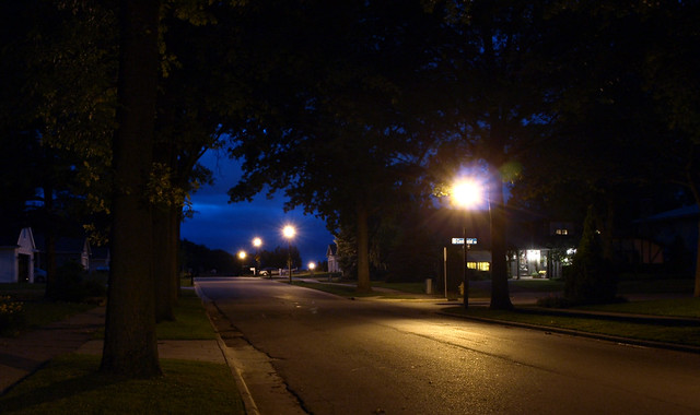 neighborhood at night | Flickr - Photo Sharing!