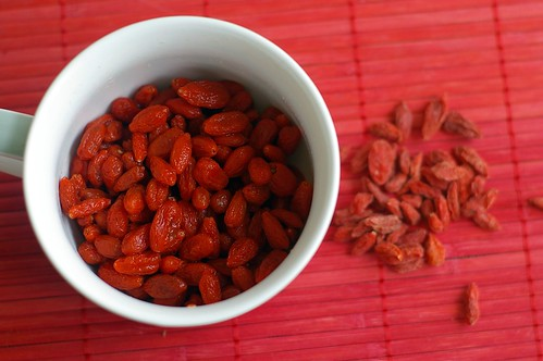 Goji berries rehydrated