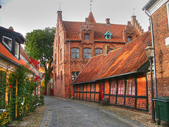 Ribe. Old houses
