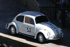 volkswagen type 14a(0.0), sedan(0.0), model car(1.0), automobile(1.0), volkswagen beetle(1.0), automotive exterior(1.0), wheel(1.0), vehicle(1.0), automotive design(1.0), volkswagen new beetle(1.0), city car(1.0), compact car(1.0), antique car(1.0), land vehicle(1.0),