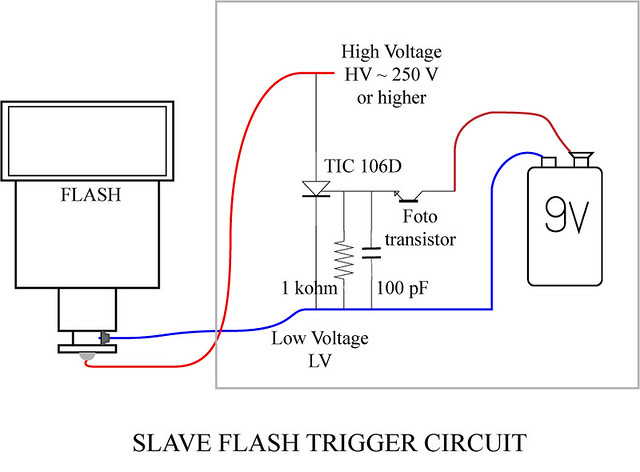 Slave Flash Trigger Circuit, Schematic