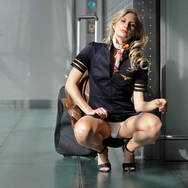 Perfect gallery stewardess upskirt totally just