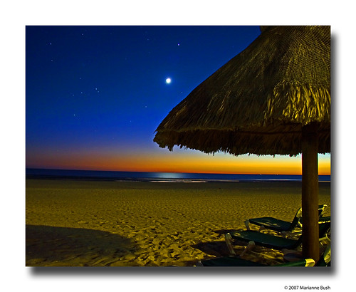 sunset moon beach stars mexico interestingness explore soe 174 smorgasbord puertopeñasco abigfave anawesomeshot diamondclassphotographer flickrdiamond