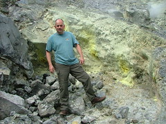 In the crater of Vulcano