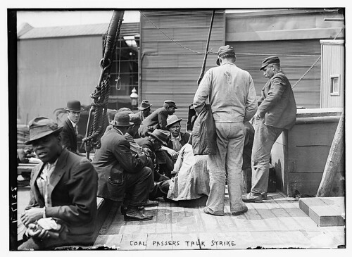 Coal Passers Talk Strike (group on ship's deck)  (LOC)
