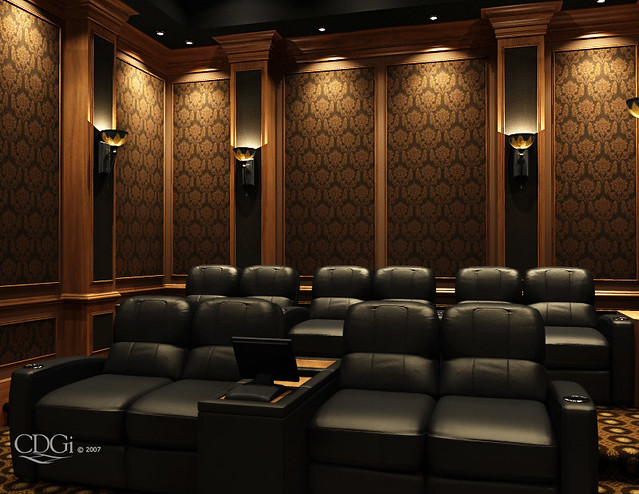 Westminster theater design home theater interior - Interior design for home theatre ...