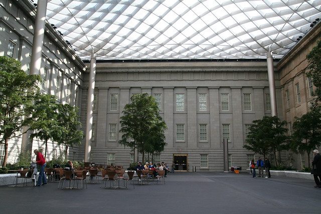 courtyard at the National Portrait Gallery