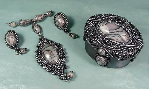 Abalone Box & Jewelry