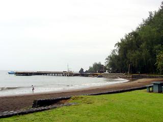 Image of Hana Beach Park. hawaii maui hana blacksandbeach