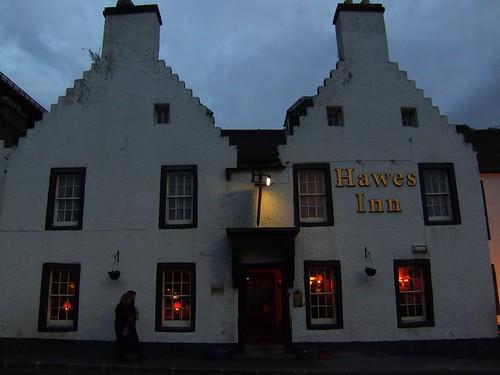 Hawes Inn at dusk