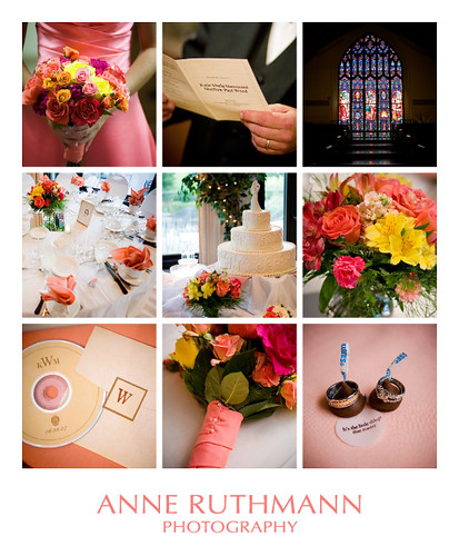 Pink Coral Yellow Wedding Details by Anne Ruthmann yellow and coral wedding