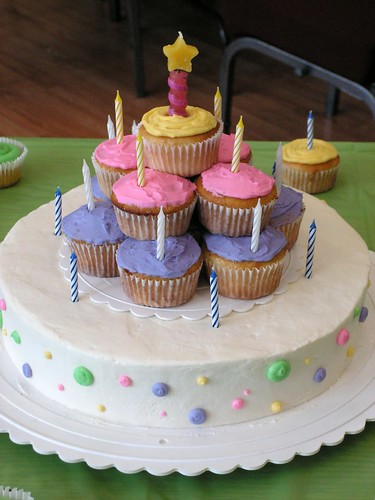 Birthday Cake Ideas With Cupcakes : Cupcake birthday cake