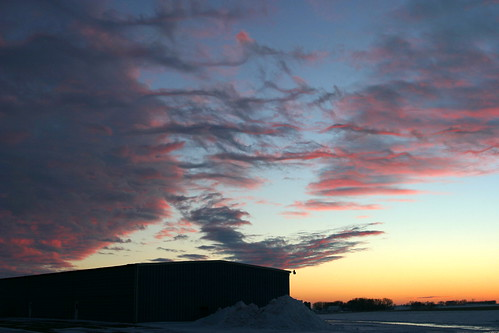pink blue sunset sky orange clouds january iowa markevans chimothy27