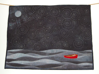 Little Red Boat in the Big Black Sea