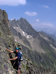 Climbing in Sewenhorn Swiss