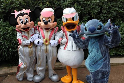 Minnie, Mickey, Donald and Stitch