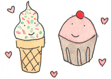 Cupcake and Ice Cream
