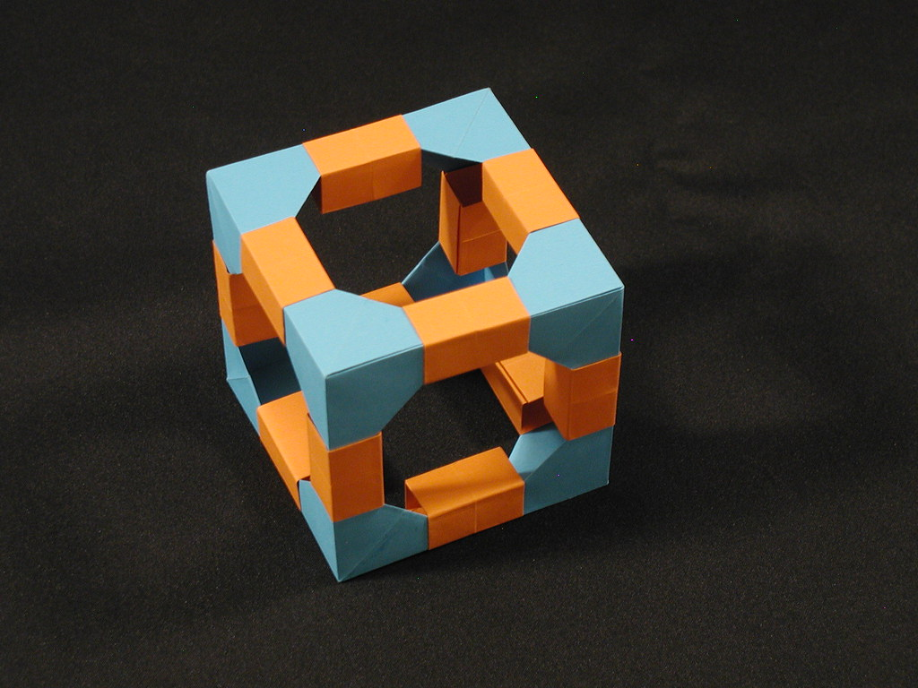 Polyhedra Kit: Cube (Modular Origami) - a photo on Flickriver - photo#6