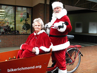 Santa Claus on a Bicycle