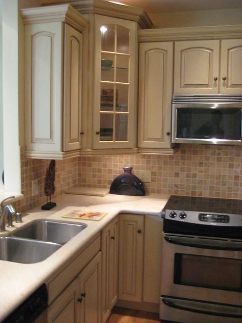 Kitchen corner with stone backsplash flickr photo sharing - Backsplash corners ...