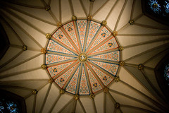 daylighting, symmetry, light, ceiling, glass, vault, circle, lighting, stained glass,