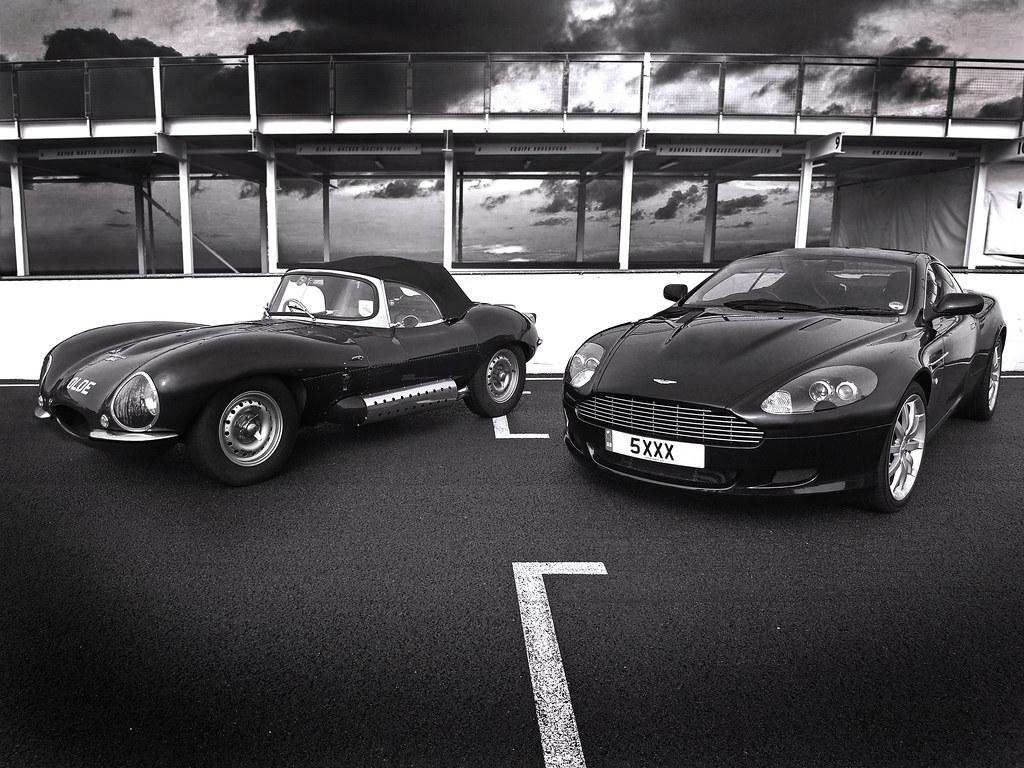 aston martin db9 v jaguar xkss | the best of british, old an… | flickr