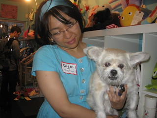 Diem Chau and her dog