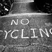 No Cycling by SARK S-W