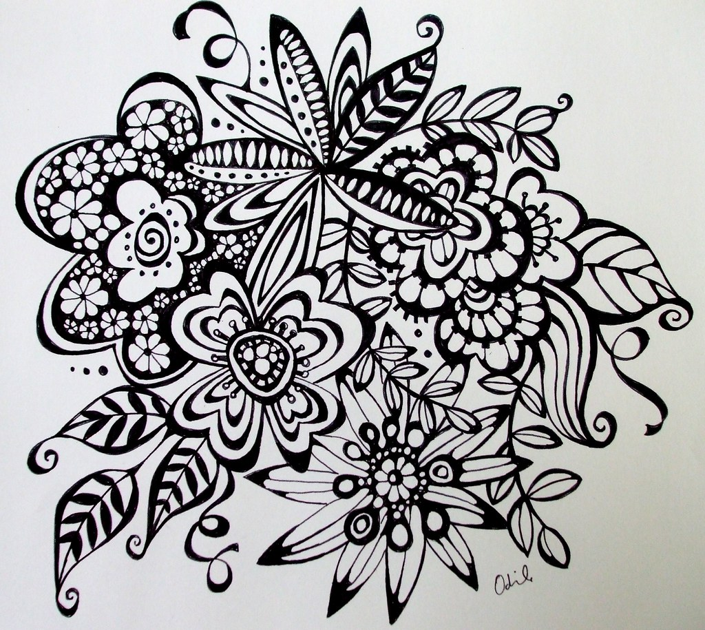 Doodle Art Designs : Free coloring pages of doodle art flowers