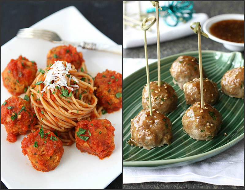 "... Cannellini Bean Vegetarian ""Meatballs"" with Tomato Sauce"