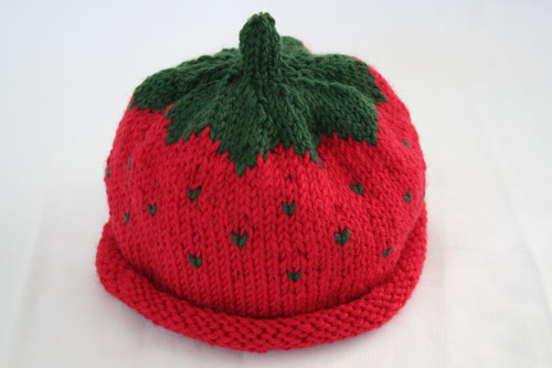 Strawberry Hat Pattern: Ann Norling Kids Fruit Cap Yarn: ? Flickr - ...