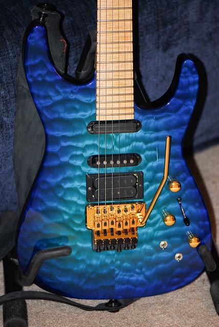 Photo:Chlorine Blue Jackson PC-1 guitar By ArtBrom