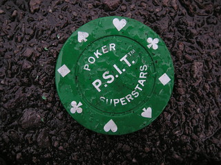 Poker Chip On The Pavement
