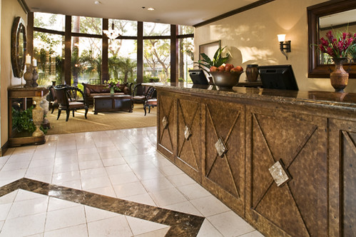 Elegant Lobby at Carousel Inn and Suites Anaheim Hotel
