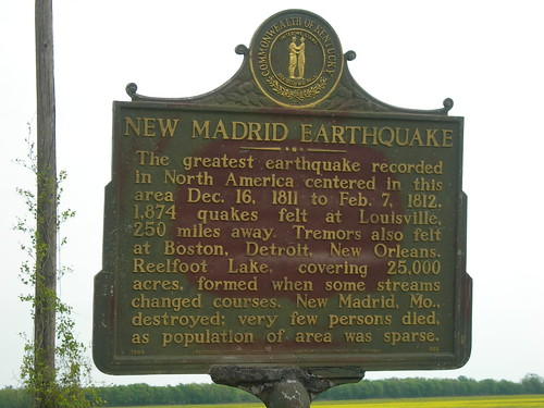 New Madrid Earthquake Marker