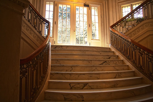 PhotoAtelier's photo of the marble stairs at the center of Pittock Mansion.