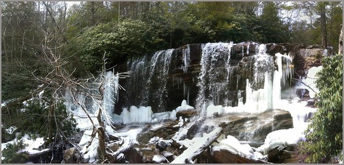 winter panorama ice nature outdoors march frozen hiking pennsylvania falls waterfalls jimthorpe photostitch 2014 carboncounty glenonoko tomwildoner