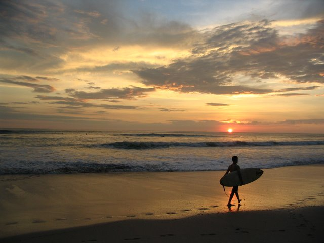 Another Day of Surfing Ends in Mal Pais (Costa Rica)
