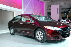 honda civic hybrid(0.0), honda insight(0.0), automobile(1.0), automotive exterior(1.0), wheel(1.0), vehicle(1.0), honda fcx clarity(1.0), automotive design(1.0), auto show(1.0), bumper(1.0), sedan(1.0), land vehicle(1.0),
