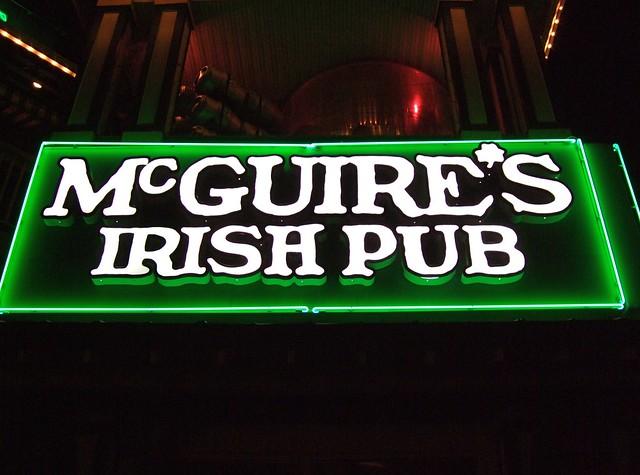 Mcguire S Irish Pub Drink Menu