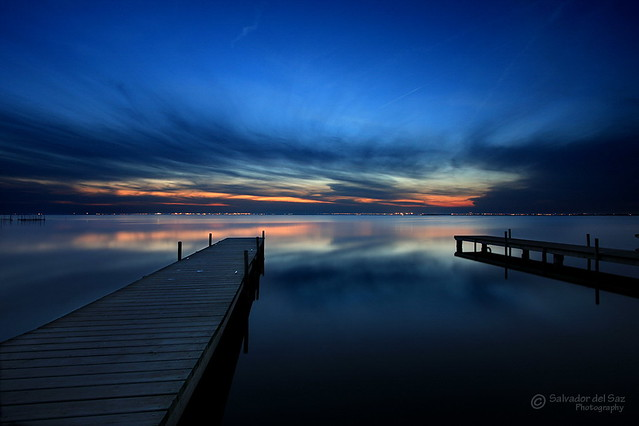 Last glimmer of light before night falls